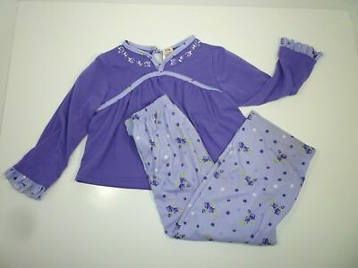 Faded Glory Toddler Girls 2 Piece Pajama Set 4T Purple
