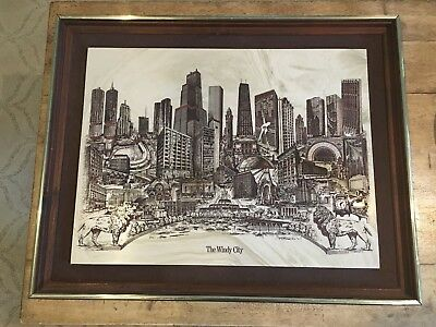 """Dennis Bivens """"The Windy City""""  Marble Etching, Limited Edition #2621"""