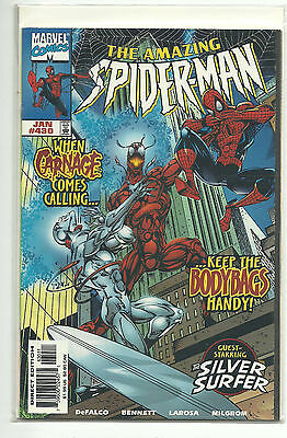 (1963 Series) Marvel Amazing Spider-Man #430 Carnage Silver Surfer - Vf/nm