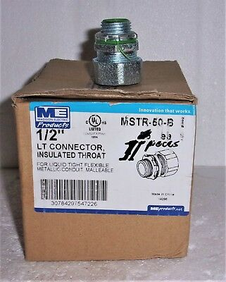 """Madison Electric Me Mstr 50 B 1/2"""" Liquid Tite Connector Insulated Throat New"""