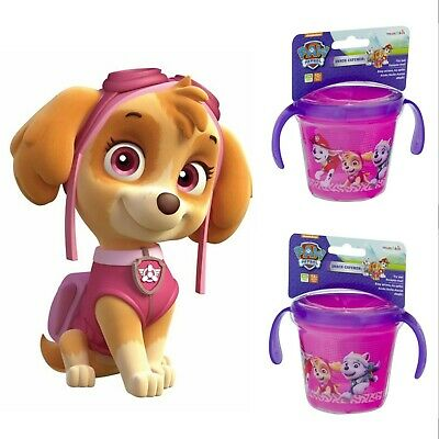 2 PACK Munchkin Paw Patrol Snack Catcher Snack Cup, Pink