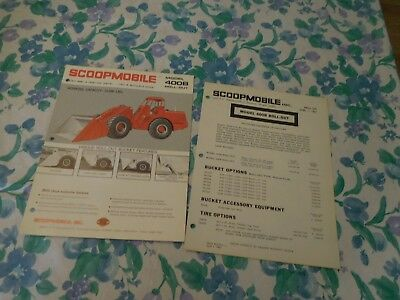 1967 Scoopmobile 400B Standard Front End Loader Sales Brochure With Price List