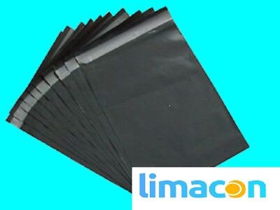 """GREY MAILING BAGS 9"""" x 12.5"""" STRONG POLYTHENE POSTAL SELF SEAL BAGS 225 x 318MM"""