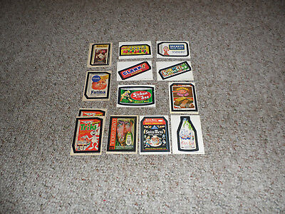 13 Total 12 Different Tan Back 1973/4 Wacky Packages Stickers Series 5