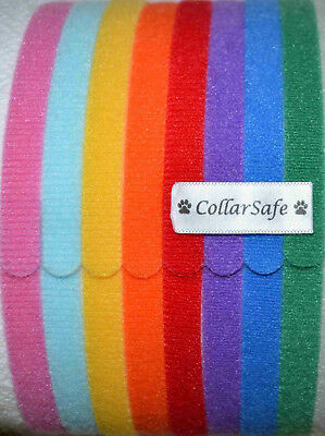 "CollarSafe (8) 3/8"" Puppy ID Litter Bands Collars handmade w/ USA VELCRO® Brand"