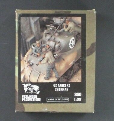 Verlinden 1/35 US Tankers Sherman WWII (2 Figures) [Resin] Item No. 850
