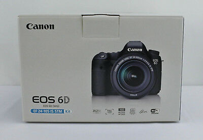 Canon Eos 6D DSLR EF 24-105mm f/3.5-5.6 IS STM Kit w/ Extra Battery BRAND NEW!