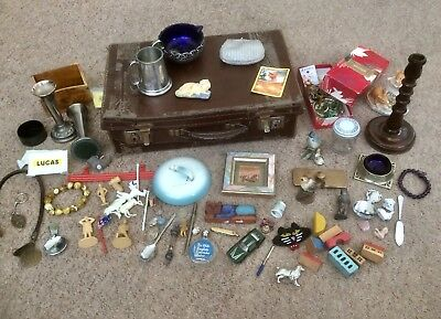 Antiques~Vintage~Curios~Collectables Job Lot,silver Plate,brass,lead Toys,china