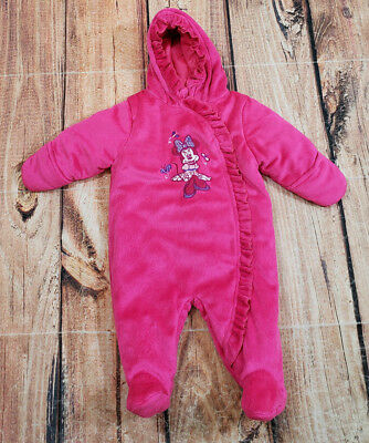 857c700ab Disney Minnie Mouse Snowsuit Infant Baby Girl Size 0-3 Months Hot Pink