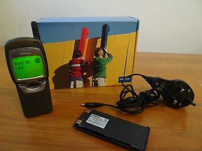 Vintage Nokia 7110 Slide Phone with Box and 2 Batteries