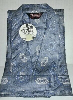 Vintage Men's Travelaire Wash & Wear Robe Medium 40-42 -New With Tags