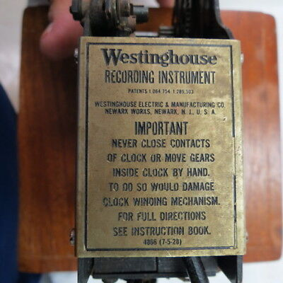 1890-1910 early Westinghouse Recording Instrument telephone switchboard clock