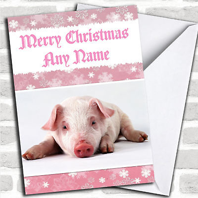 Pig Personalized Christmas Card