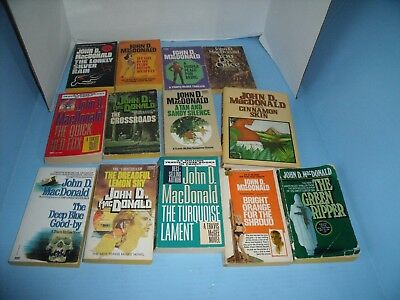 LOT OF 13 JOHN D. MacDONALD TRAVIS McGEE OTHER*GREEN RIPPER*CROSSROADS