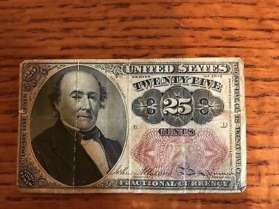 United States Twenty Five 25 Cents Fractional Currency Series of 1876