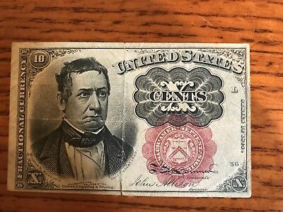 United States Ten 10 Cents Fractional Currency Series of 1874