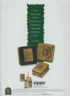 Zippo Lighters Mystery of the Forest 1995 Jon Robyn Engraver PRINT AD  Rare