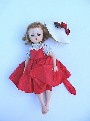 BEAUTIFUL Vintage 1950's Madame Alexander LISSY Doll Outfit & HTF Hat