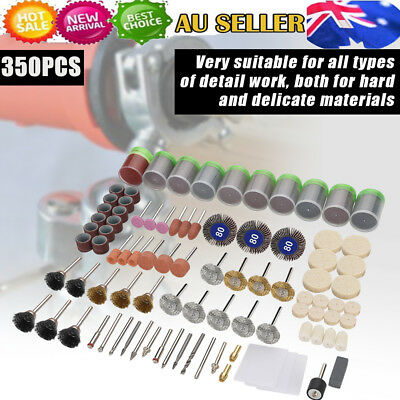 350 Piece Dremel Rotary Tool Accessories Kit Grinding Polishing Shank Craft Bits