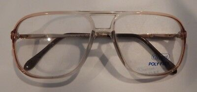 Vintage Charmant Poly Flex 4532 Lt. Brn 55/15 Men's Eyeglass Frame New Old Stock