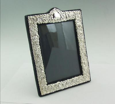 Vintage Attractive English Solid Silver Photo Frame 1985 7.5 X 5.5 Inch