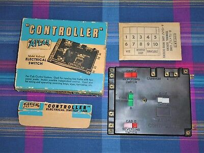Atlas #220 Controller Electrical Switch Cab Controlling 2 Trains, reverse loops