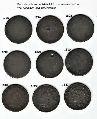 1802, punchmark on N of CENT,    MIDDLE LEFT COIN ONLY!      --NoReserve-  BOSCO