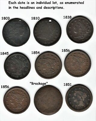 """1840 """"brockage"""" See description             ONE COIN ONLY!   --NoReserve-  BOSCO"""