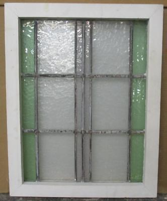 "OLD ENGLISH LEADED STAINED GLASS WINDOW Pretty Abstract 17.75"" x 22.5"""