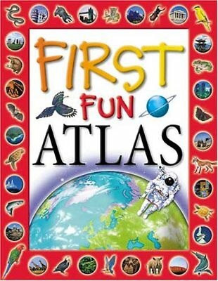 First Fun Atlas by Langley, Andrew Hardback Book The Cheap Fast Free Post