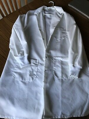 Red Kap Unisex Specialized Cuffed Lab Coat - Large - White