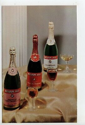 1950s Advertising, Melody Hill Sparkling California Wines, Indiana