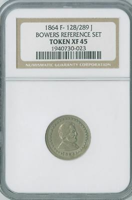 1864 Lincoln /eagle LINCOLN AND UNION.German Silver ex-Bowers Reference Set. XF+