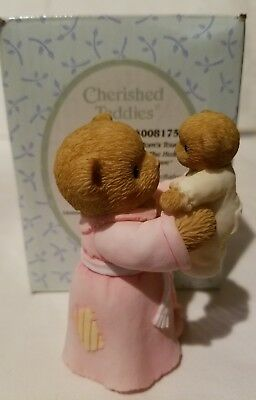Cherished Teddies Figurine Bear A Mom's Touch Fills The Heart With Love Baby NIB