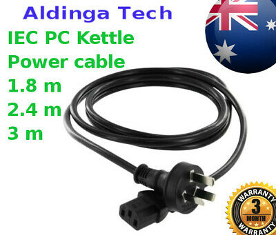 """AU 3 Pin to IEC """"Kettle Cord"""" Plug  240V Computer Power Cable Lead Cord PC"""