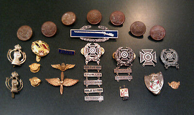 Lot of Misc Vintage US Military Pins, Buttons, Wings - Navy, Army