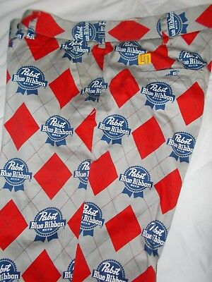 Pabs Blue Ribbon Golf/Beer Pants with Pabst belt buckle