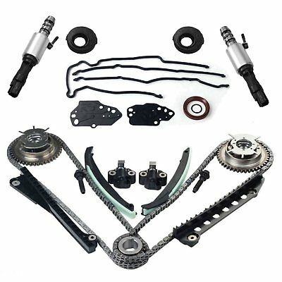 For 5.4 Ford F150 F250 Lincoln 3V Timing Chain Kit Cam Phaser Timing+cover Seal