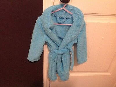 Plush Blue Robe Toddler Girls 3T-4T