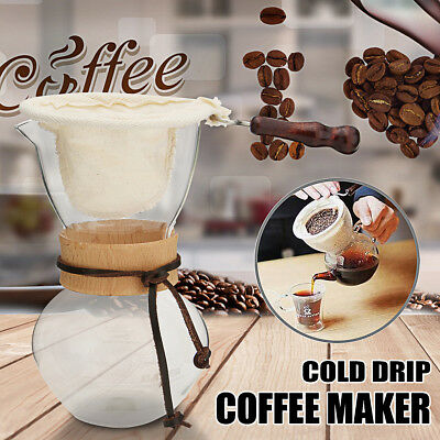 Coffee Maker Cold Drip Water Ice Dutch Brew Machine With Filter Bag 480cc DIY AU