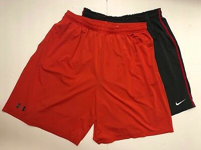 Lot of 2 Under Armour Nike Mens Athletic Shorts Size XL