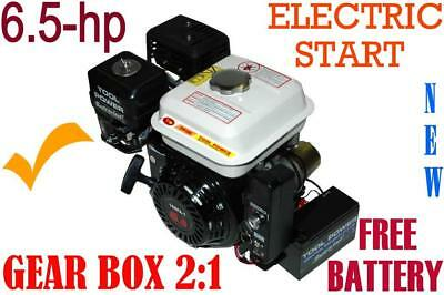 Engine with GEAR BOX 2:1,  6.5-hp, Racing Type with inbuilt AUTO clutch*********