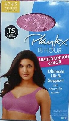 d0aa2e0e8 PLAYTEX 4745 18 Hour Ultimate Lift Support Wirefree Bra 40C Cherry Rose New  Pink
