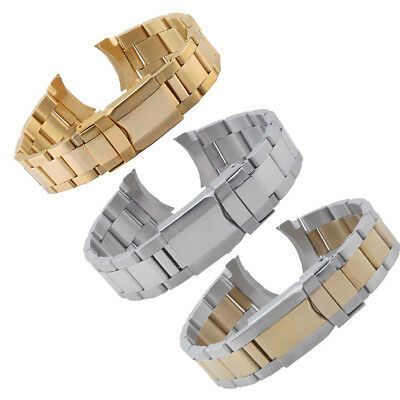 20mm Solid Steel Strap Bracelet Replacement Watch Band For Rolex Daytona Sub