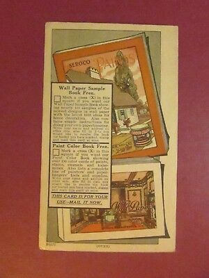 SERACO PAINTS Advertising Card P6577, Sear, Roebuck and Co.