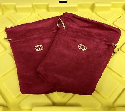 Crown Royal XR bag Velvet Red and Gold- Perfect Condition (1) Each