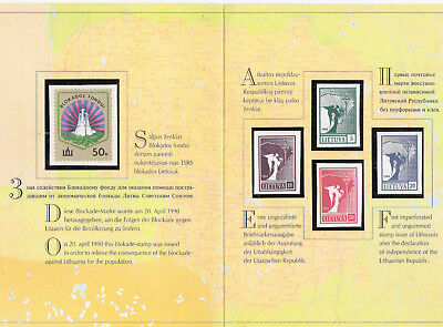 Lithuania Litauen Lituanie official set postage stamps of 1990