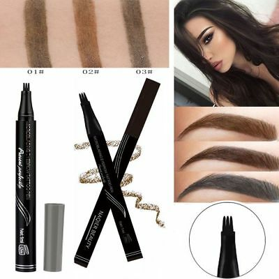 NAQIER Eyebrow Enhance Tattoo Pen Waterproof Fork Tip Sketch Ink Tint Pen Womens