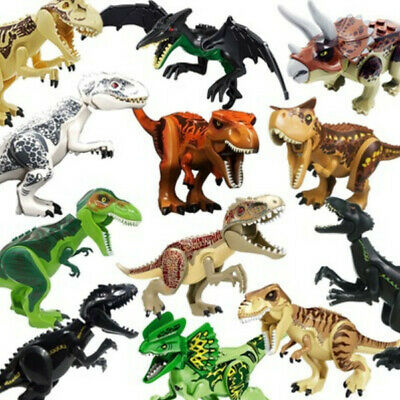 "Jurassic World XXL Large Size Dinosaur 7x11"" Figure Blocks Fit Lego Toys Set"