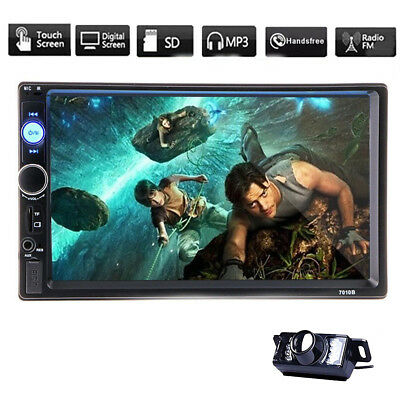 Double DIN Car In-Dash Bluetooth Stereo Radio no-dvd Player FM USB/AUX/TF+CAMERA